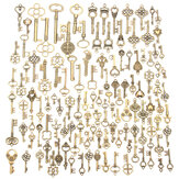 125Pcs Vintage Bronze Key For Pendant Necklace Bracelet DIY Handmade Accessories Decoration