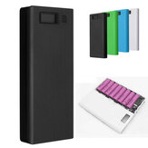 30000mAh DIY Cargador portátil Cargador doble USB Batería Power Bank Caso 8x18650