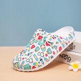 SOCOFY Women Lightweight Buckle Strap Mules Waterproof Non-slip Slide Sandals