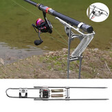 Automatic Fishing Rod Holder Double Spring Angle Tackle Bracket 3-Gears Adjustable Fishing Rods Ground Stand