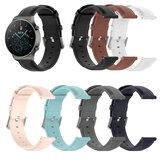 Relógio universal de 22 mm Banda pulseira de couro com cauda redonda para relógio Huawei GT2 Pro/Zeblaze GTS / BW-HL3 / Haylou LS05