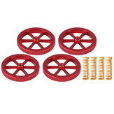 4Pcs Upgraded Metal Red Hand Screwed Leveling Nut  + 4pcs Spring for Creality 3D Ender-3 Series 3D Printer Part