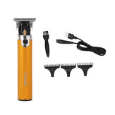 Electric Hair Trimmer USB Rechargeable Portable Hair Clipper Haircut Machine W/ 3 Limit Combs