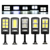 500-1000W COB LED Wall Street Light op zonne-energie PIR Motion Garden Lamp + Remote