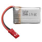 Kudian 3.7V 250mAh 60C 1S Lipo-batterij JST-plug