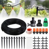 45Pcs 50ft/15m Drip Irrigation Kit  Garden Irrigation System with Distribution Tubing Hose Adjustable Nozzles Plant Watering Kit Mist Irrigation System for Garden Greenhouse Patio Lawn
