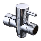 7/8 Inch T-Adapter 3 Way Conector Divertório de chuveiro de bronze com válvula para vaso sanitário Bidet Handheld Sprayer