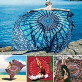 Honana WX-99 New 150x210cm Bohemian Style Polyester Fiber Beach Mat Tapestry Mogala Rectangle Sengetøj