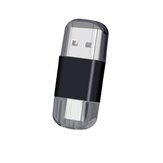 Mini 2 in 1 Dual Head Card Reader Type-c USB 2.0 Multifunctional TF / SD Memory Card for Computer Mobile Phone