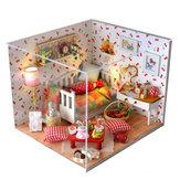 T-Yu TY12 Осенний фруктовый дом DIY Кукольный домик с крышкой Свет коллекция подарков Декор Игрушка