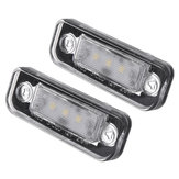 2Pcs 3-SMD LED 7000K License Piatto Luci Lampade per Benz C E-Class CLS SLK W211 S211