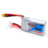 Gaoneng GNB 11.1V 450mAh 80/160C 3S Lipo Battery XT30 Plug For Eachine Lizard95 FPV Racer