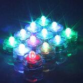 12Pcs imperméable à l'eau sans flamme électronique coloré mariage Chirstmas Décoration Vase Candle Lights