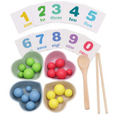 Enfant Montessori Mathématiques Éducatives Jouets Clip Perles Pratique Baguettes Enfants Cadeaux