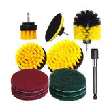 12Pcs Electric Drill Cleaning Brush With Sponge And Extend Attachment Tile Grout Power Scrubber Tub Cleaning Brush