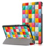 Tri-Fold Pringting Tablet Case Cover voor Samsung Galaxy Tab S5E SM-T720 SM-T725 Tablet - Cube