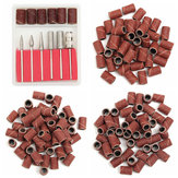 300pcs 80/120/180 Grit Drill Sanding Bands with 6 Replacement Bits Set