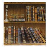 45cmx10m Librería autoadhesiva Biblioteca Libro Patrón Papel de pared Mural calcomanías Decoración de la sala