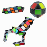 3D Colorful Magic Cube 72 Segmenten Speed ​​Twist Snake Magic Cube Puzzle Sticker Educatief speelgoed