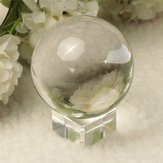 Quartz Pure Clear Magic Crystal Glass Healing Ball Speculum Slickball Sphere 60mm Met Staan
