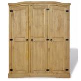 KCASA المكسيكي نمط كورونا خشبي 3 أبواب غرفة المعيشة وضعت خزانة خشب الصنوبر