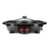 Электрическая печь Hotpot 220V 1800W бездымная машина для гриля для гриля для кухни