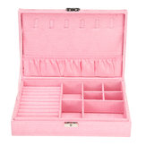 Jewelry Case Ring Earring Necklace Trinket Organizer Display Storage Box