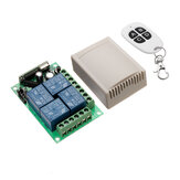 433mhz DC 12V Learning Type 4CH Channel Wireless Remote Control Switch Four Way Relay Control Module