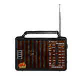 RX-608AC Portable Retro FM AM SW1 SW2 Radio 4 Band Loud Volume Radio Handheld Speaker