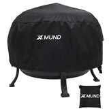 Xmund 26inch Fire Pit Cover Round BBQ Cooking Stove Protector Waterproof Anti Dust Shelter for Outdoor Camping Picnic Stove