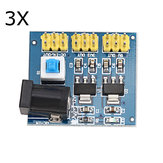 3Pcs 12V to 3.3V/5V/12V DC-DC Voltage Converter Multi-output Power Supply Module