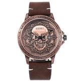 Moda kreatywny wzór czaszki męski zegarek kwarcowy