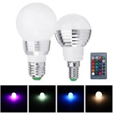 AC85-265 3W E27 E14 Dimmable RGB LED Light Bulb+24 Key IR Remote Controller for Home Party Decor
