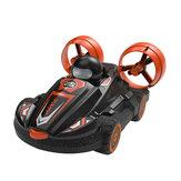 JJRC Q86 2 em 1 barco anfíbio RC Hovercraft Stunt Drift Car Veículos modelo RTR crianças brinquedos