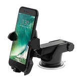 RUNDONG 360 Degree Adjustable Scalable ABS Suction Cup Car Mount Phone Holder for iPhone Samsung