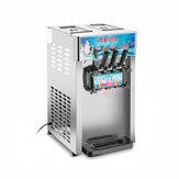 220V 1200W 3 Sabor Comercial Congelado Conos de Helado Máquina Soft Ice Cream