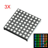 3Pcs Three-color Common Anode RGB LED Dot Matrix Display Module Compatible Colorduino