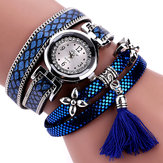 DUOYA أزياء نمط اعوج حزام السيدات اسوارة عادية كوارتز ساعة نسائية