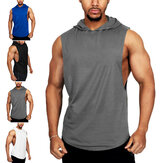 INCERUN Mens Indoor & Outdoor Fitness Muscle Hooded Workout Tank Top Gym Workout Vest