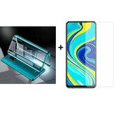 Bakeey 9H Explosionsschutz Anti-Kratzer Displayschutzfolie aus gehärtetem Glas + grüner magnetischer doppelseitiger Schutzhülle aus gehärtetem Glas aus Metall für Xiaomi Redmi Hinweis 9s / Redmi Hinweis 9 Pro / Redmi Hinweis 9 Pro max