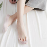 Women Breathable Ice Silk Thin Shallow Sock