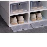 Хранение обуви Коробка Штабелируемая складная пластиковая прозрачная Чехол Организация 4-20ПК