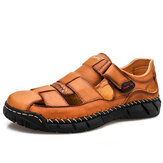 Mens Hand Stricing Comfy Breathable Casual Leather Sandals