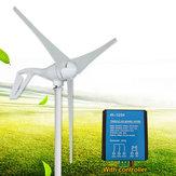 100W 12V 24V 3 Blatt-Windkraftanlage-Generator-Weiß + Wind-Steuerpult