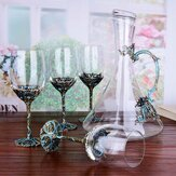 5Pcs / Set Crystal Gafas Taza Decantadores de alcohol Set KitchenDrinkware Kit Apto para lavavajillas