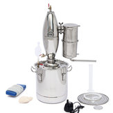 20L/5Gal Alcohol Water Distiller Moonshine Still Boiler Stainless Copper With Water Pump