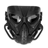 エアソフトペイントボールハンティングマスク戦術戦闘フルフェイスマスクオートバイヘルメットマスクモトクロスゴーグル軍事戦争ゲーム保護フェイスマスク