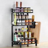 Prateleira para cozinha de 2/3 camadas Prateleira de aço inoxidável para armazenamento de utensílios de cozinha Porta-garrafas Porta-garrafas de cozinha Organizador de economia de espaço