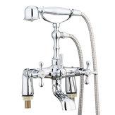 Viktorianische traditionelle Dusche Wasserhahn Bad Bad Dusche Füller Mischbatterie Handset
