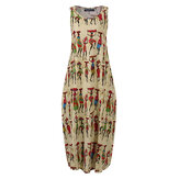 Femmes Vintage Tribal Print Cotton Bohemian Casual Dress